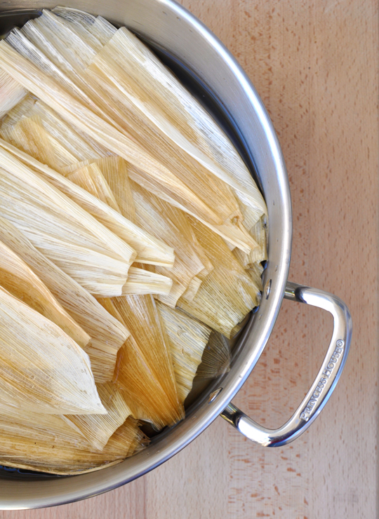 Corn Husks - Spinach and Cheese Tamales
