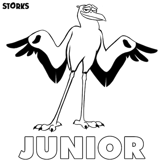 Storks Movie Printables Coloring Page Junior
