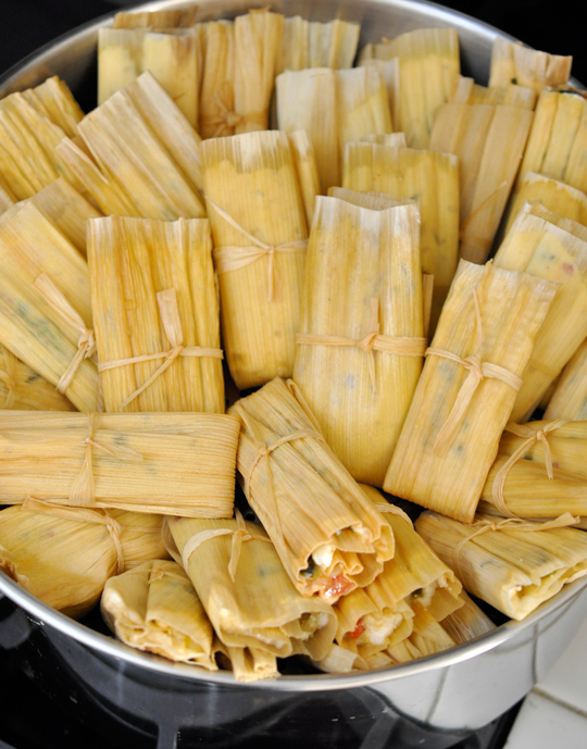 Spinach and Cheese Tamales