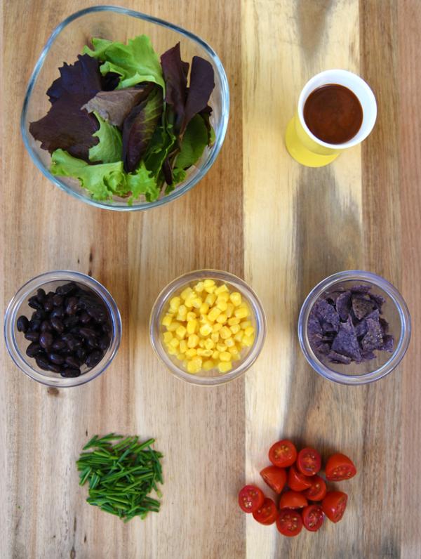 Barbecue Chicken Salad Ingredients