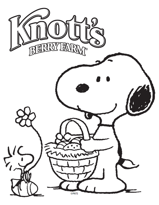 Snoopy and Woodstock Coloring Sheet