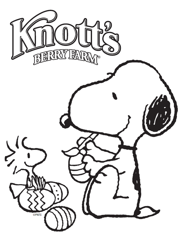 Snoopy and Woodstock Printable Coloring Sheet