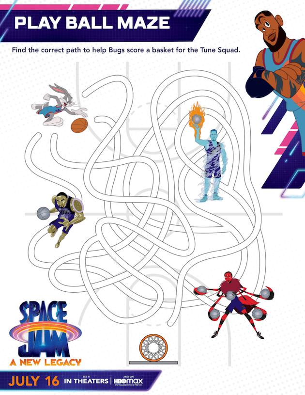 Printable Space Jam Maze