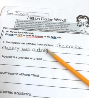 color-coding building sentences