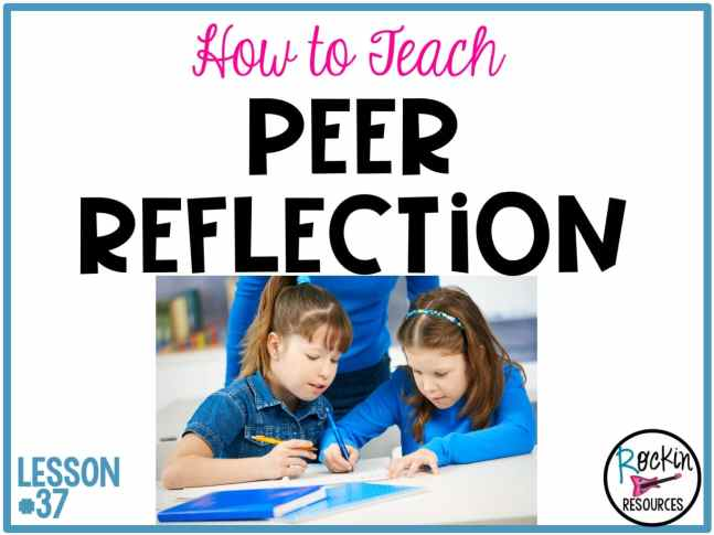 Do your students particpate in peer reflections? Peer reflection is a step in writing process after revising and editing a rough draft and before the final copy. It is one more way to give writers encouragement and advice to better their stories. This writing mini lesson is part of a series of lessons designed for instructional scaffolding in writer's workshop. Read on for ideas to implement in your classroom.