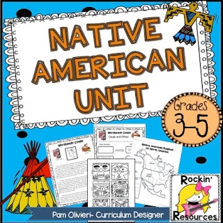 native american unit for upper elementary kids students crafts activities writing informational text