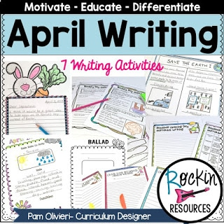 April Writing Prompts Freebie Graphic