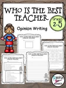 favorite teacher opinion writing