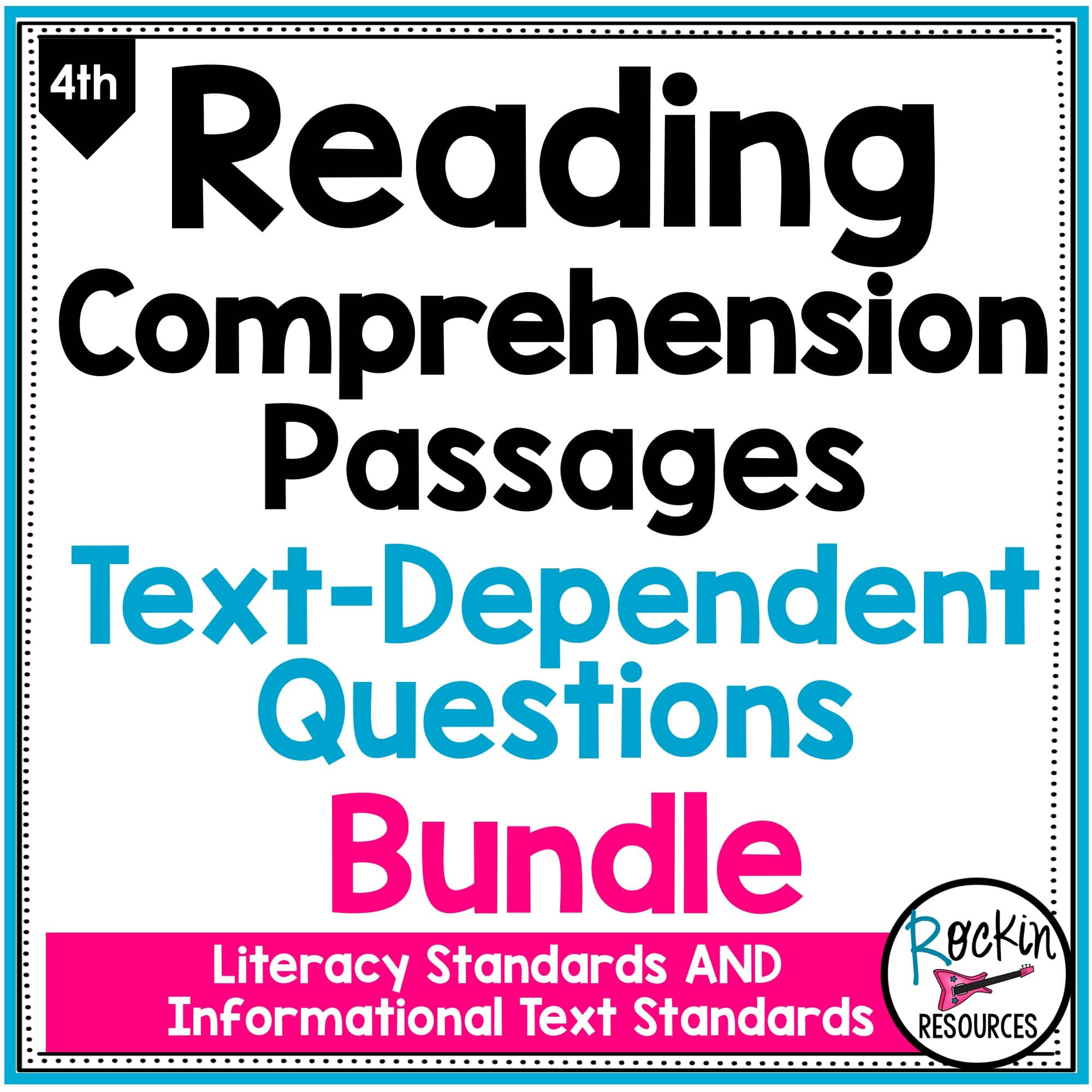 - 4th Grade Reading Comprehension Passages Bundle Rockin Resources