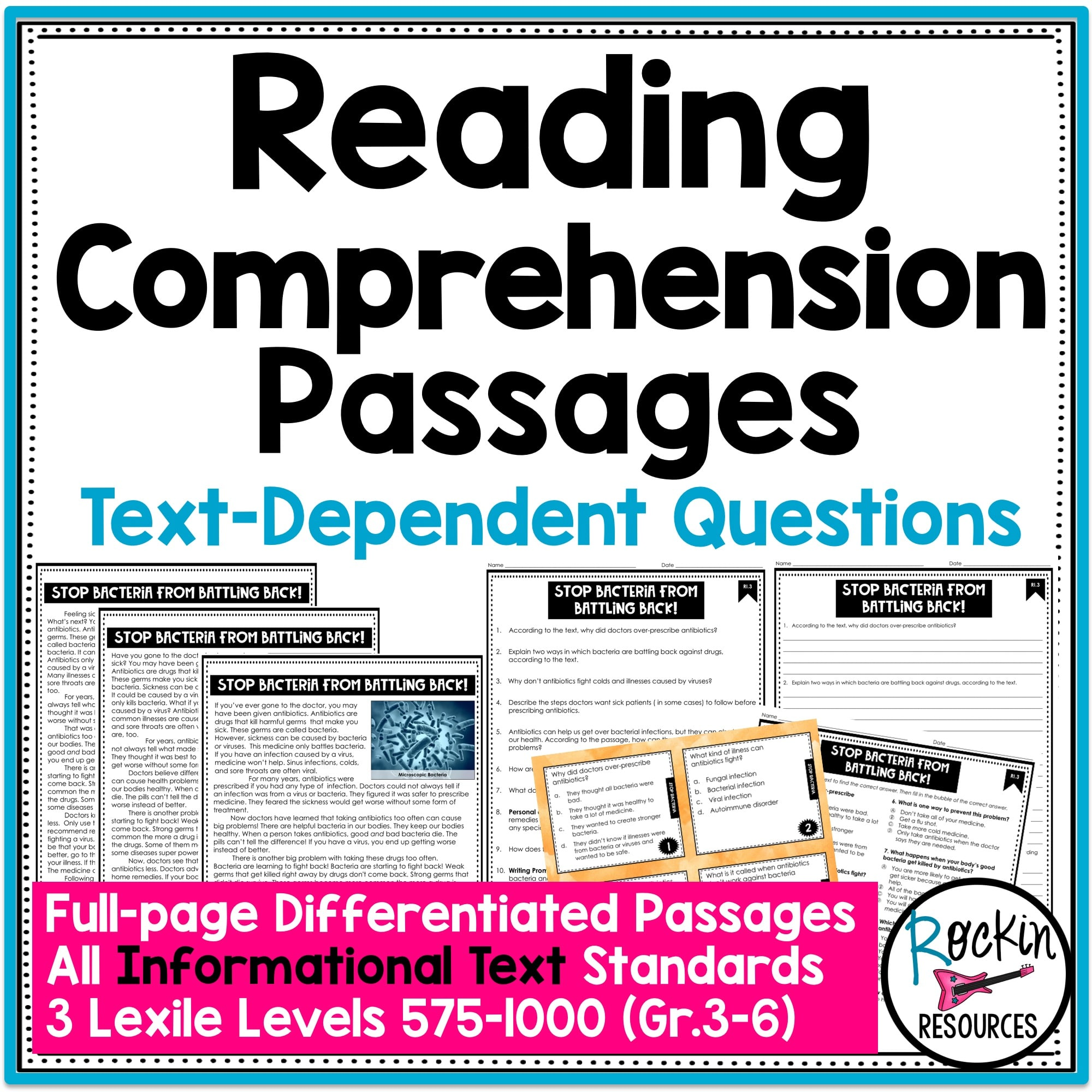- 4th Grade Informational Reading Comprehension Passages Rockin