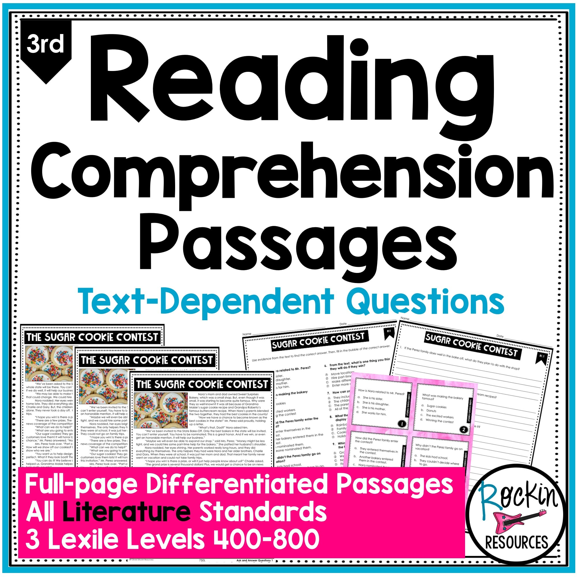 - 3rd Grade Literature Reading Comprehension Passages Rockin Resources