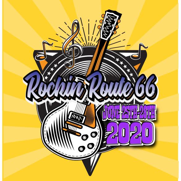 Rockin Route 66 banner art