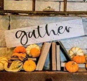 Gather Sign Board