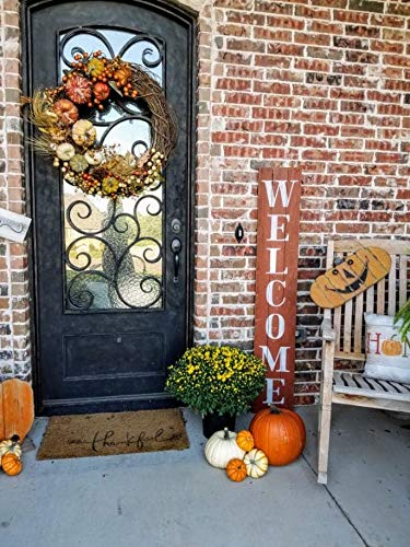 Autumn Orange Welcome Sign