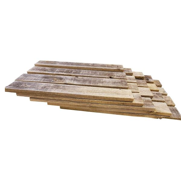 Rockin' Wood Rustic Weathered Reclaimed Wood Planks for DIY Crafts