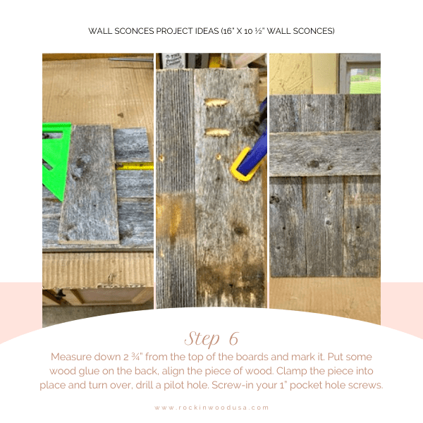 Wall Sconces Project Ideas_Step 6_1_Measure board and mark