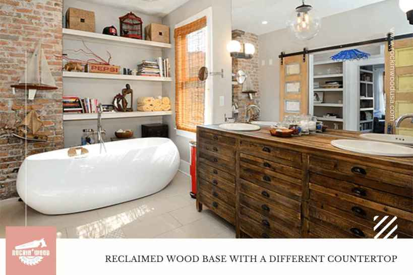 Reclaimed Wood Base With A Different Countertop