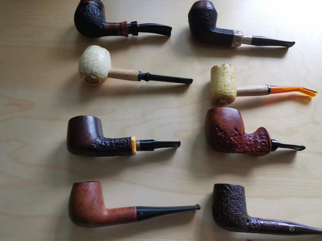8 Tabakpfeifen alle Straight Modelle verschiedene Materiallien