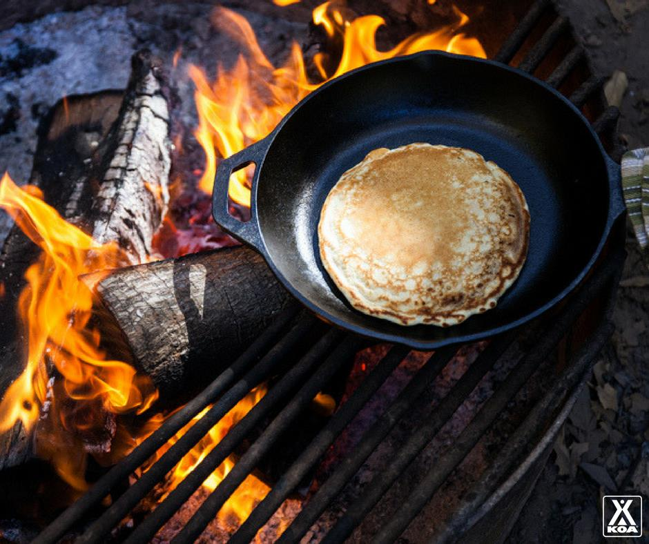 Pancakes Cooked Over A Campfire