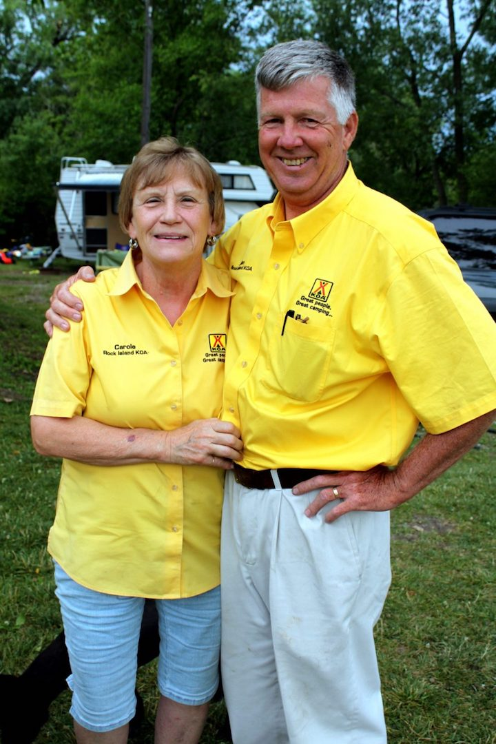 Rock Island KOA Hosts, John & Carol Downing