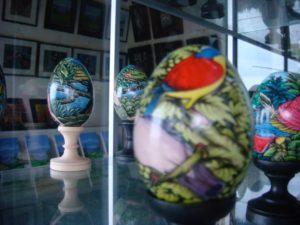 Ubud Bali Egg Painting