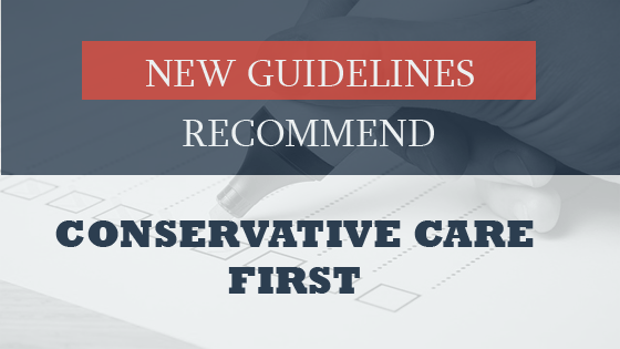 Conservative Care First