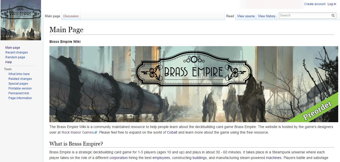 Brass Empire Website/Wiki