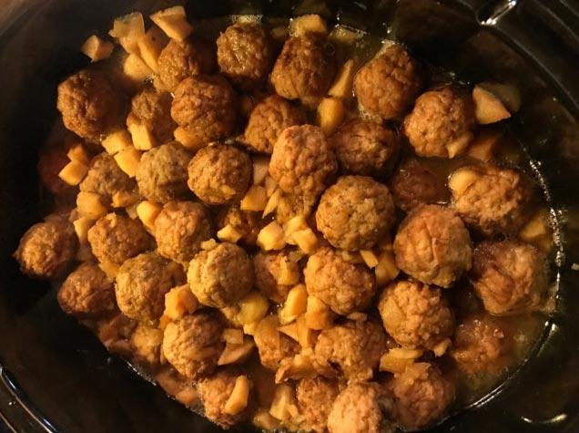 Apple Cider Maple Meatballs