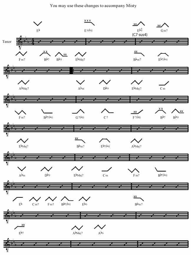 Misty Rockmaster Songbook