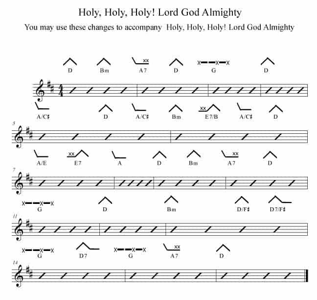 Holy Holy Holy Lord God Almighty - Rockmaster Songbook