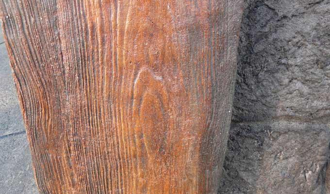 Wood-Veneer-Concrete-block-columns-First