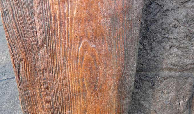 Stamped Concrete Veneer : How to wood veneer