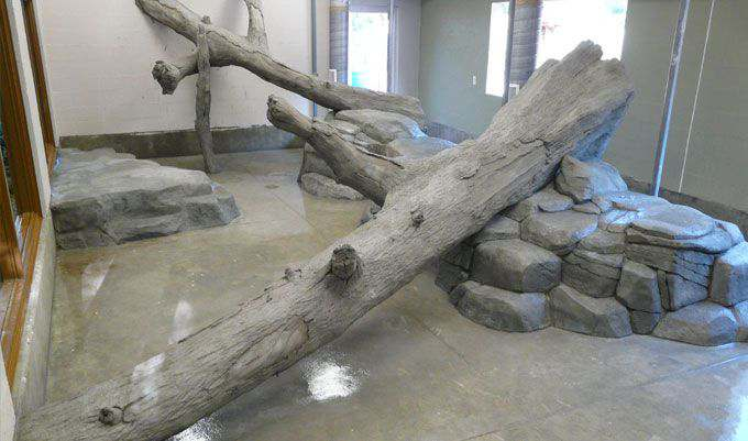 Monkey-Exhibit-Logs-concrete-Logs