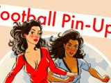 football pin-up