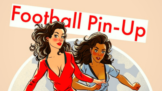 football pin-up
