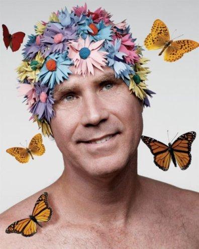 Will-Ferrell-In-Flower-Shower-Cap