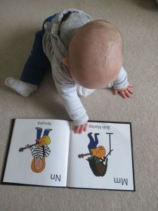 My baby with his A-Z book