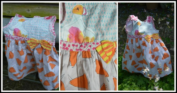 Harriet Simons George Bird Print Dress With Bow Detail 1