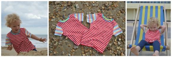 Little Bird By Jools Red Stripy T Shirt 5