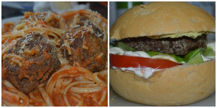 Bean Burger and Balls