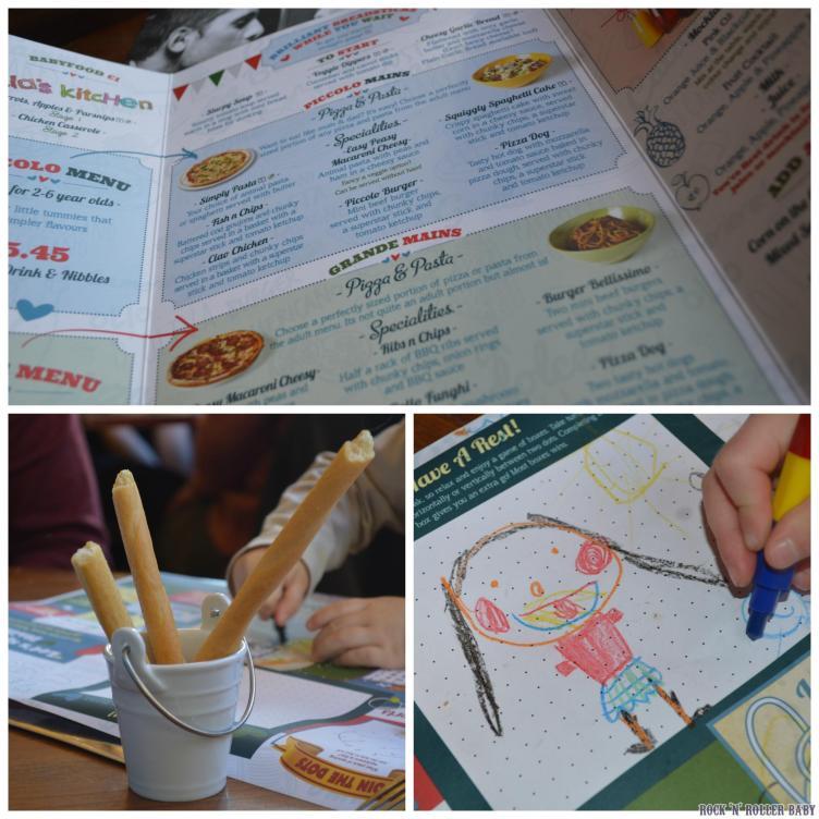 Perusing the extensive menu!