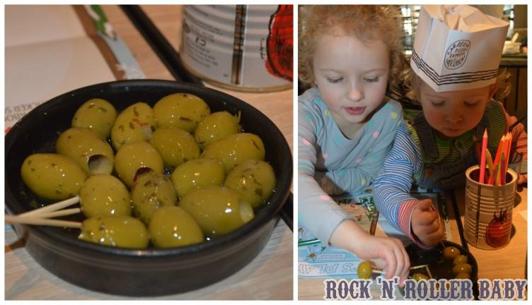 I didn't get much of a look in with the olives with these two!