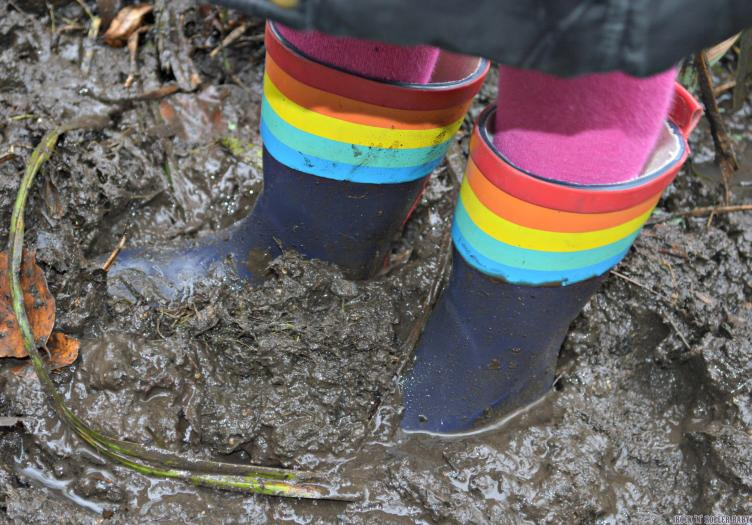 A very wet and muddy day!