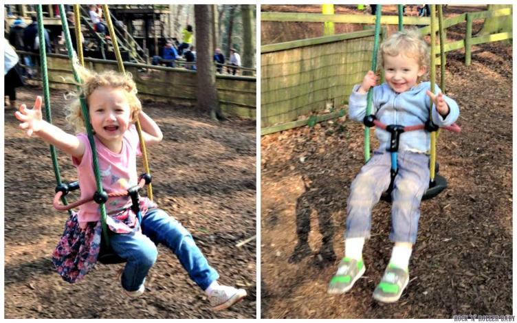 Baby zip wires! (Florence is a big scaredy but Jimmy loves it)!