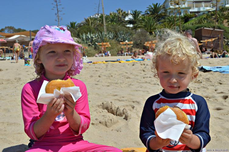 Donuts on the beach!