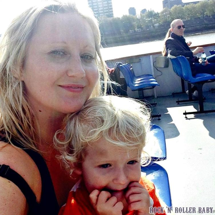 Jimmy and me on the river cruise dwn the Thames!