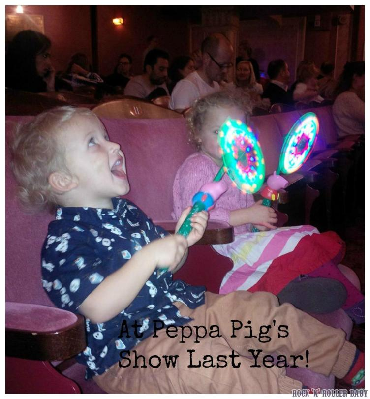 At Peppa Pig's show last Christmas with Peppa and george wizzy wands!