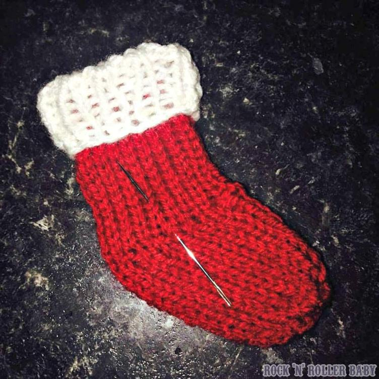 One of many of the mini stockings I am knitting for two different projects!