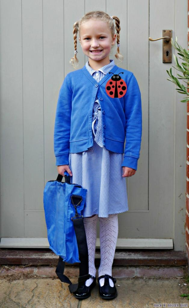 And this is her on her first day of year two. New school, new uniform, new year, same gorgeous girl!