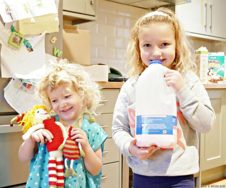 Our elves, Lily and Tasha, ar eback and wreaking havoc (as well as bringing lots of smiles). On this day they'd turned the milk pink!